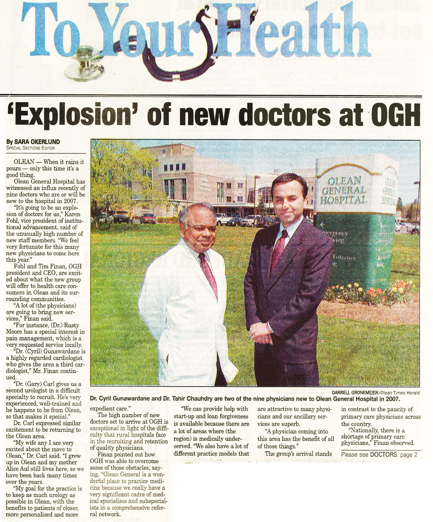 Explosion of New Doctors at OGH